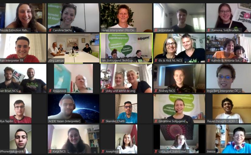 Die 56. Internationalen Jugendbegegnungen der Solijugend – The virtual Edition: Wie gelingt eine internationale Online-Begegnung mit 9 Partnerländern?