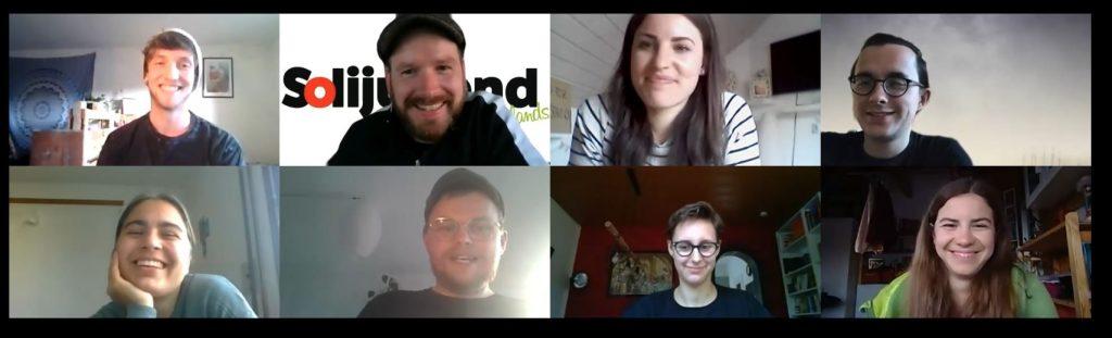 Screenshot der Teilnehmenden